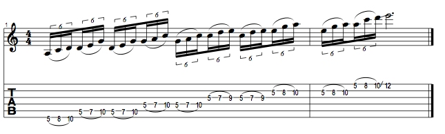 A Minor Pentatonic Lick 1