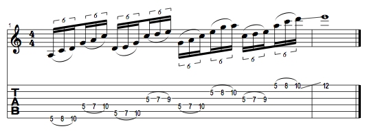 A Minor Pentatonic Lick 2