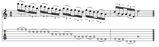 E Minor Pentatonic Lick 1