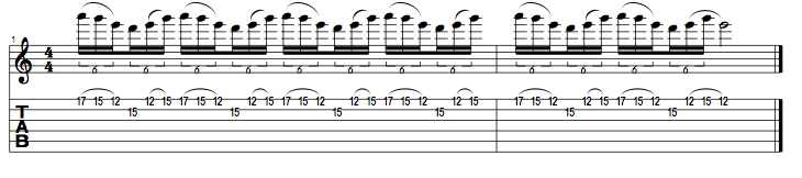 E Minor Pentatonic Lick 2