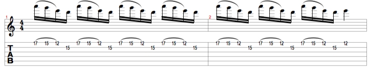 E Minor Pentatonic Lick 3