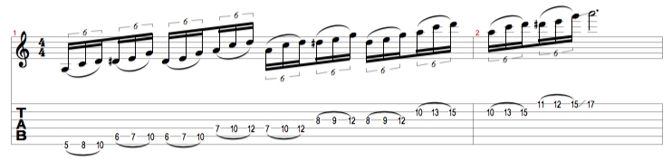 A Minor Blues Lick 1